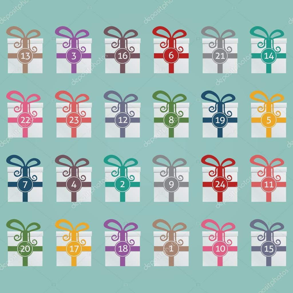 adventi naptár háttérkép Színes ajándékos dobozok Adventi naptár kék háttér — Stock Vektor  adventi naptár háttérkép