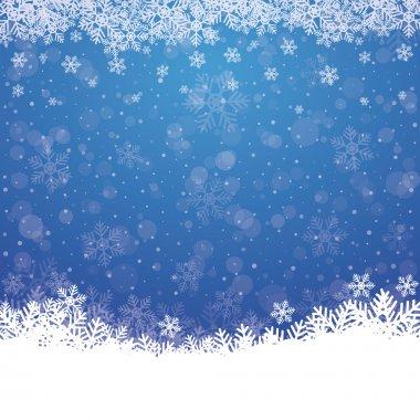 Fall snowflake snow stars blue white background
