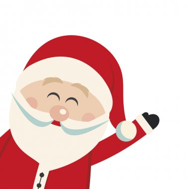 santa claus wave isolated background
