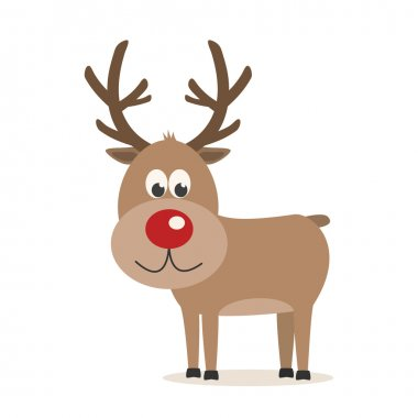 reindeer isolated background