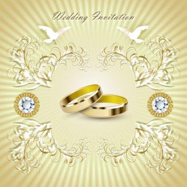 Romantic wedding invitation card