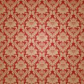 Schöne nahtlose Tapete Hintergrund mit floralen Ornament