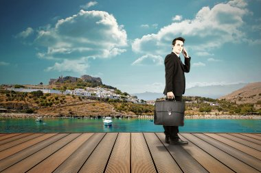 Businessman, finance and market