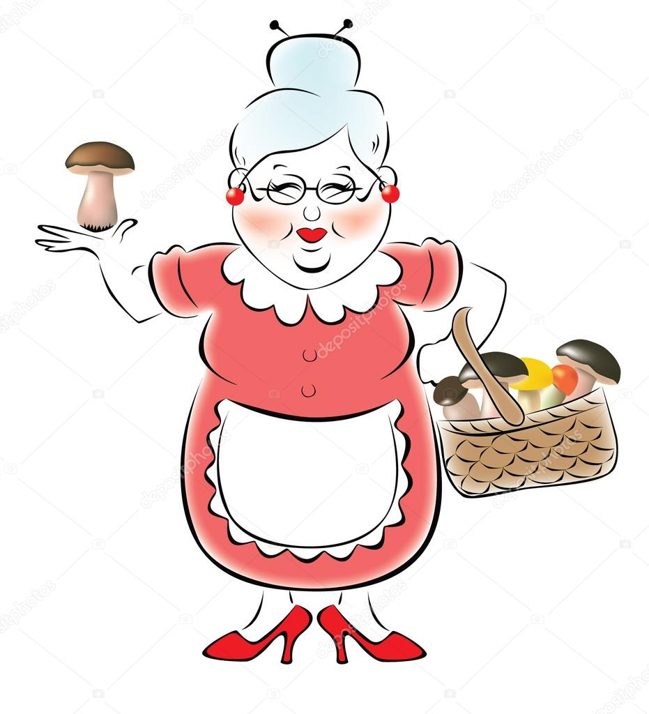 Illustration Of Grandmother Stock Vector 169 Pittore 12390642