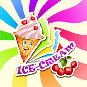 Cherry ice cream