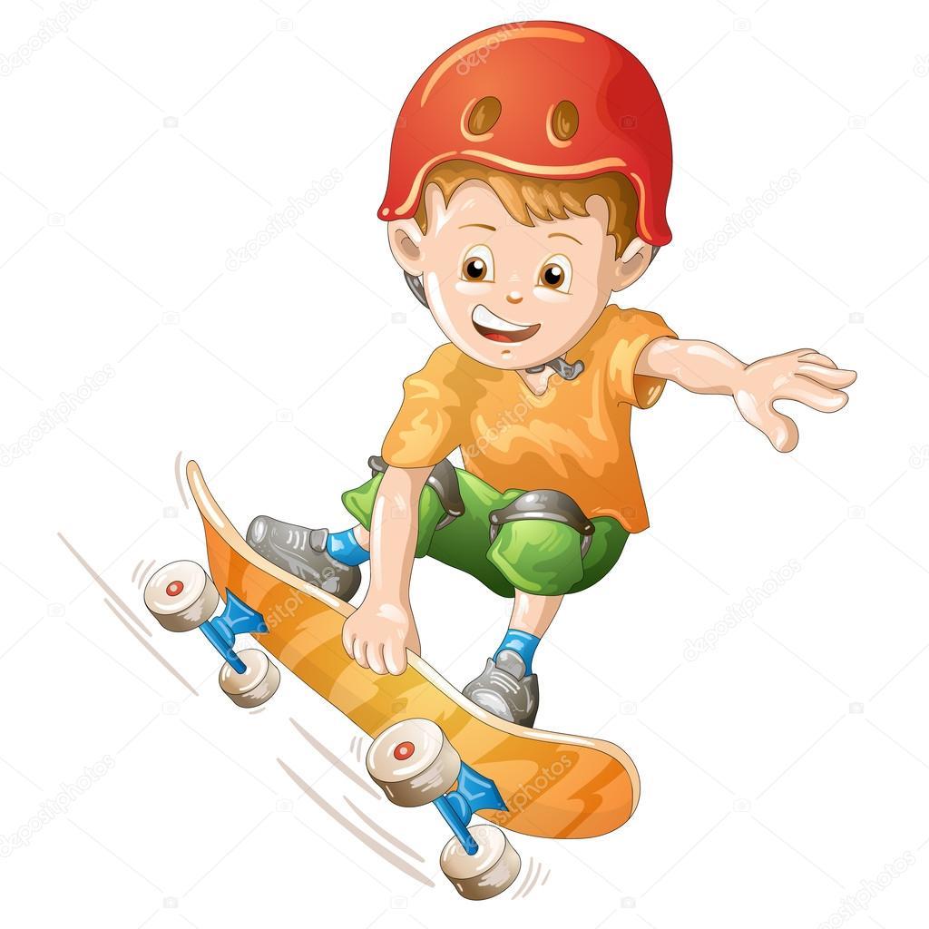 skatista dos desenhos animados vetores de stock merlinul 46996721
