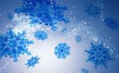modré vločky krystalů prvky