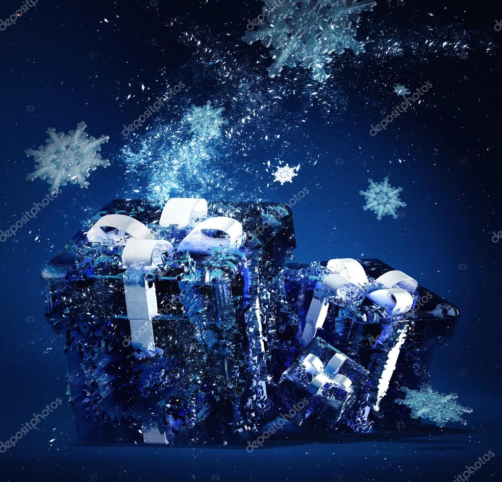 frozen christmas gifts — Stock Photo © alexannabuts #15851213