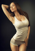 Fotografie sexy woman in white top