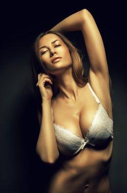 sexy woman in white bra