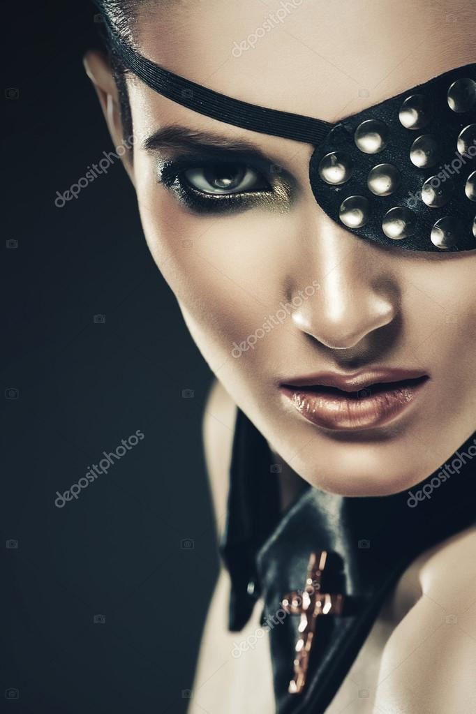 Sexy Woman With Eye Patch Stock Photo