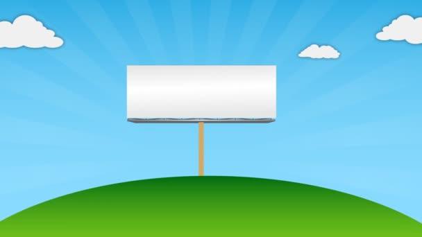 prázdné billboard pro propagaci