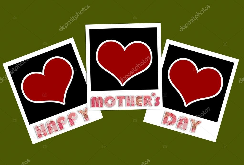 happy mothers day frame with heart concept — Stock Photo ...