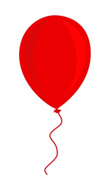 Red balloon vector illustration stock vector