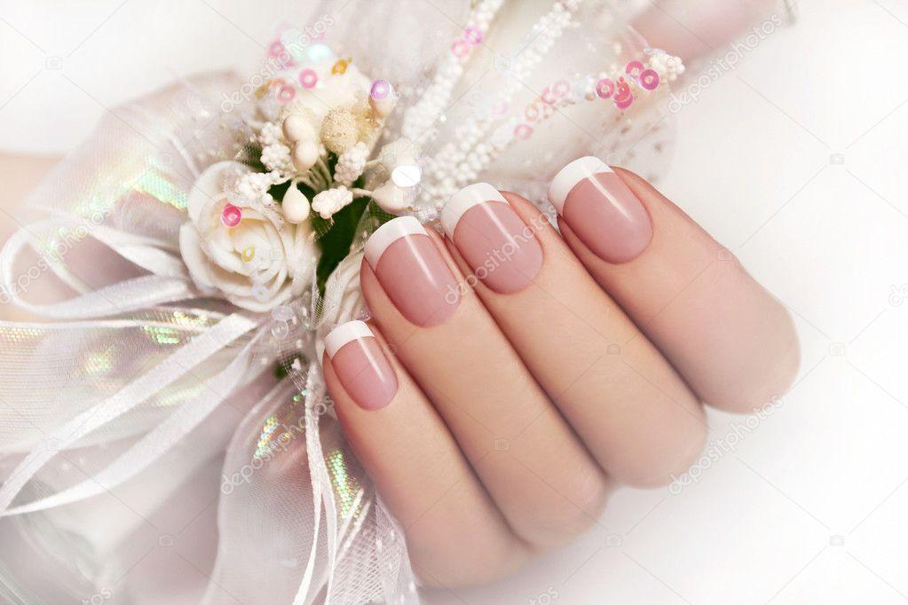 Wedding manicure.