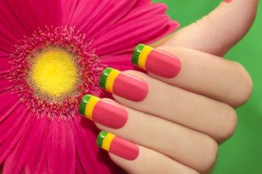 Colored nail Polish.