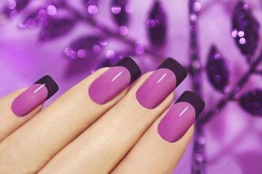 Lilac manicure.