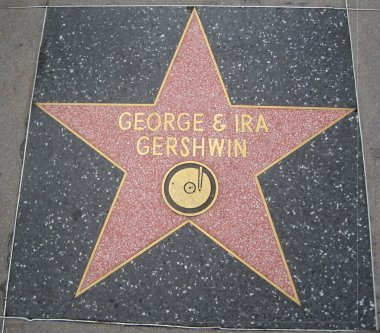 George & Ira Gershwin's Star at the Hollywood Walk of Fame