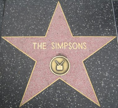 The Simpsons' Star at the Hollywood Walk of Fame