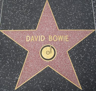 David Bowie's Star at the Hollywood Walk of Fame in Hollywood, California stock vector