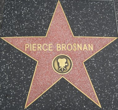 Pierce Brosnan's Star at the Hollywood Walk of Fame
