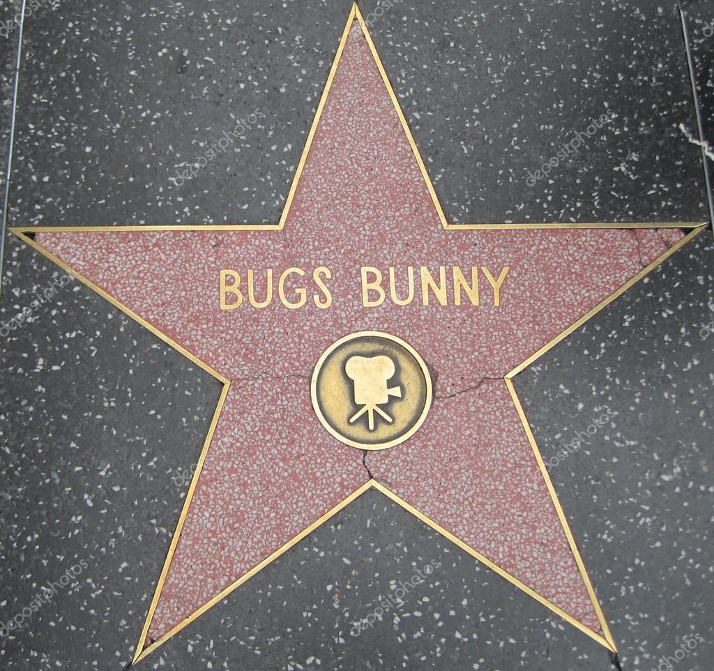 Bugs estrella de Bunny en la caminata de Hollywood de la fama — Foto ...