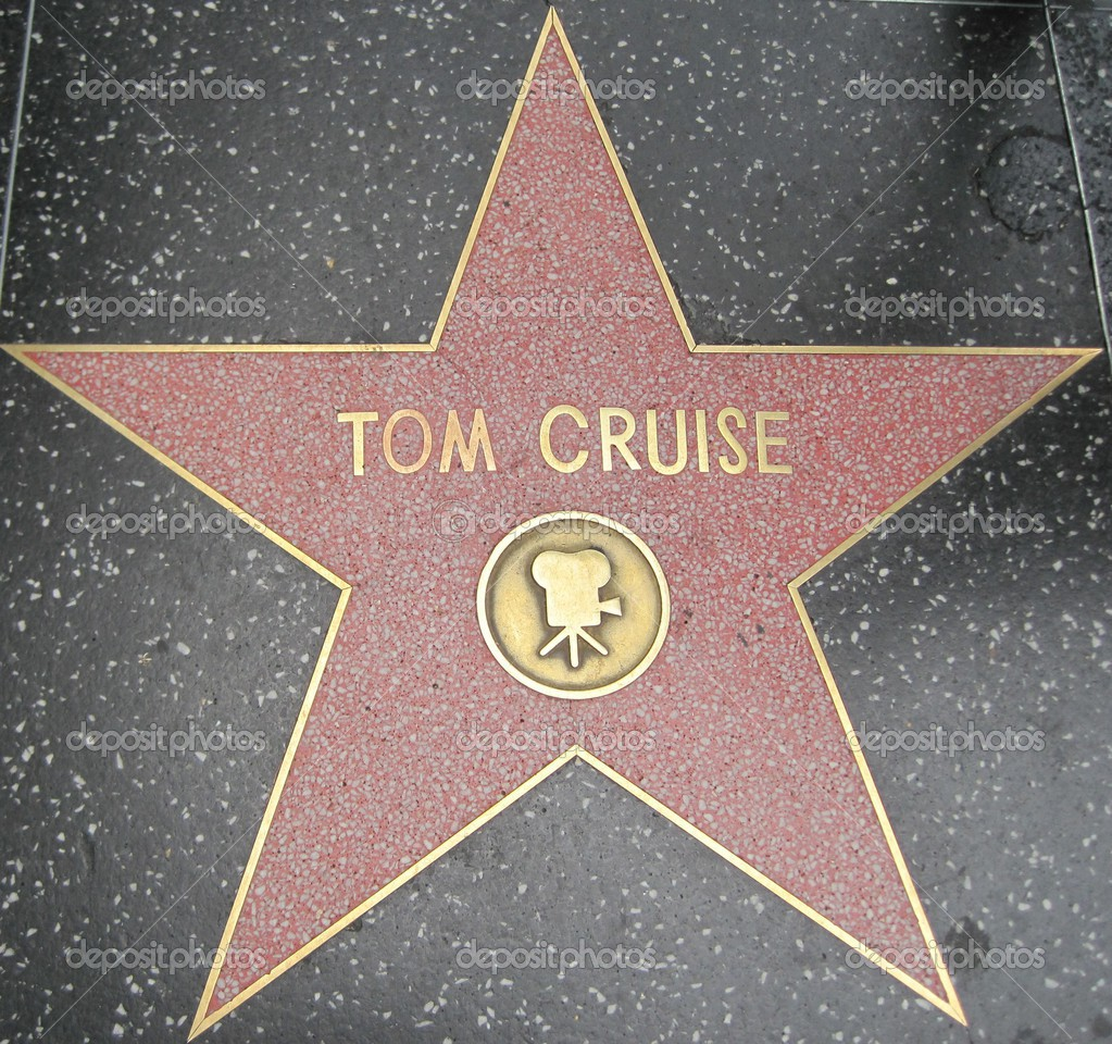 tom cruise s star at the hollywood walk of fame stock