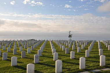 United States Military Cemetery in San Diego, California