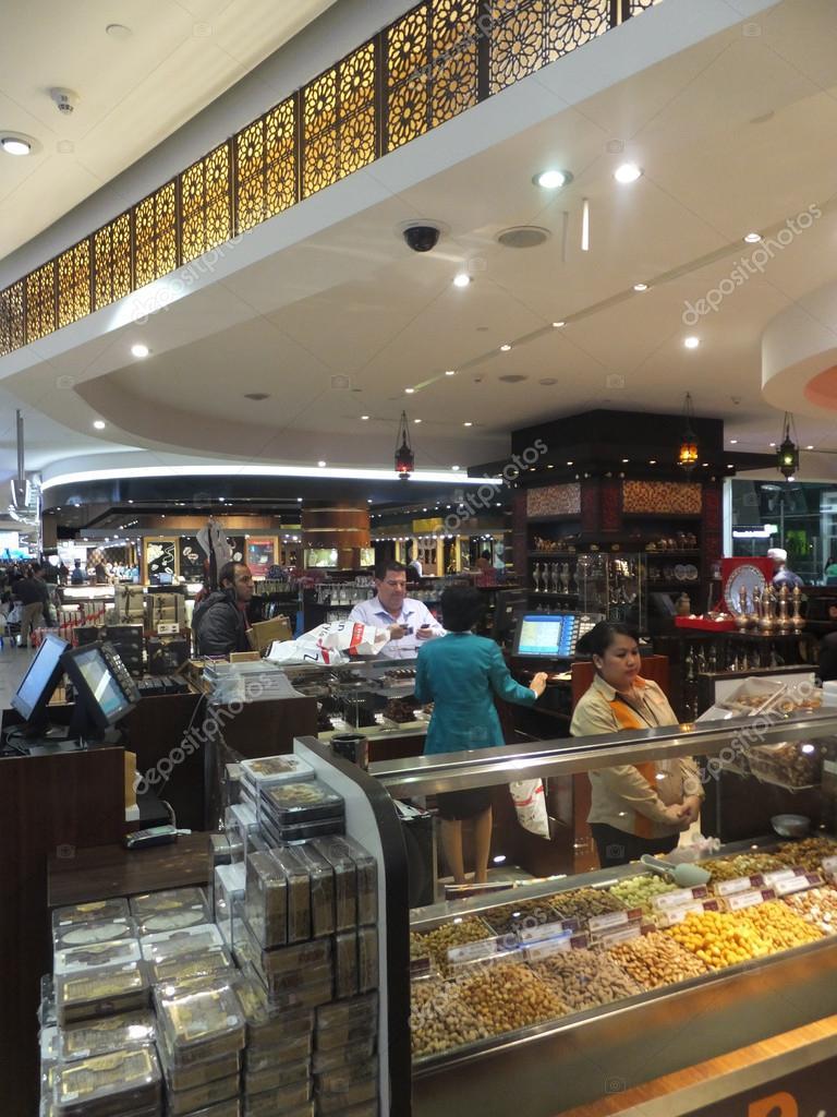 Shops At Dubai Duty Free At The International Airport Stock