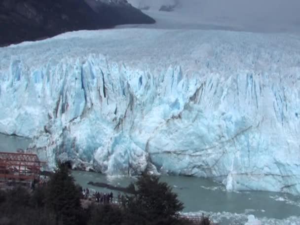 The Perito Moreno Glacier calving in Patagonia, Argentina.