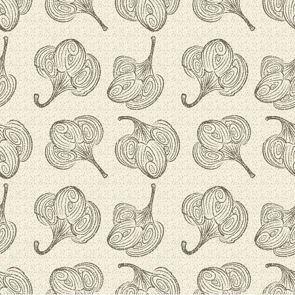Seamless retro cotton background