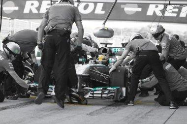 Lewis Hamilton - Merecedes F1 Driver & Pitstop Team