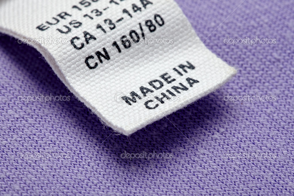 Cheap Photo — © Picsfive Clothing China Made Label In 12465295 Stock
