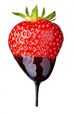 strawberry with chocolate candy dessert fruit