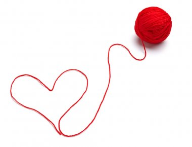 wool knitting heart shape love