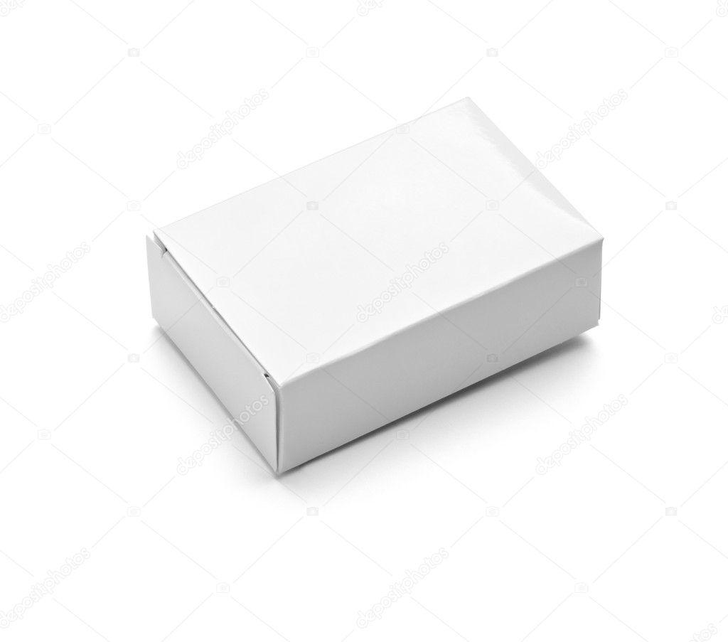 salle de bain savon boîte blanche contenant hygiène — photographie