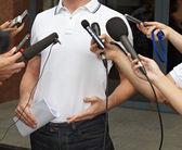 obchodní jednání konference žurnalistiky mikrofony