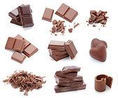 Čokoládový dezert kousky sladkých potravin