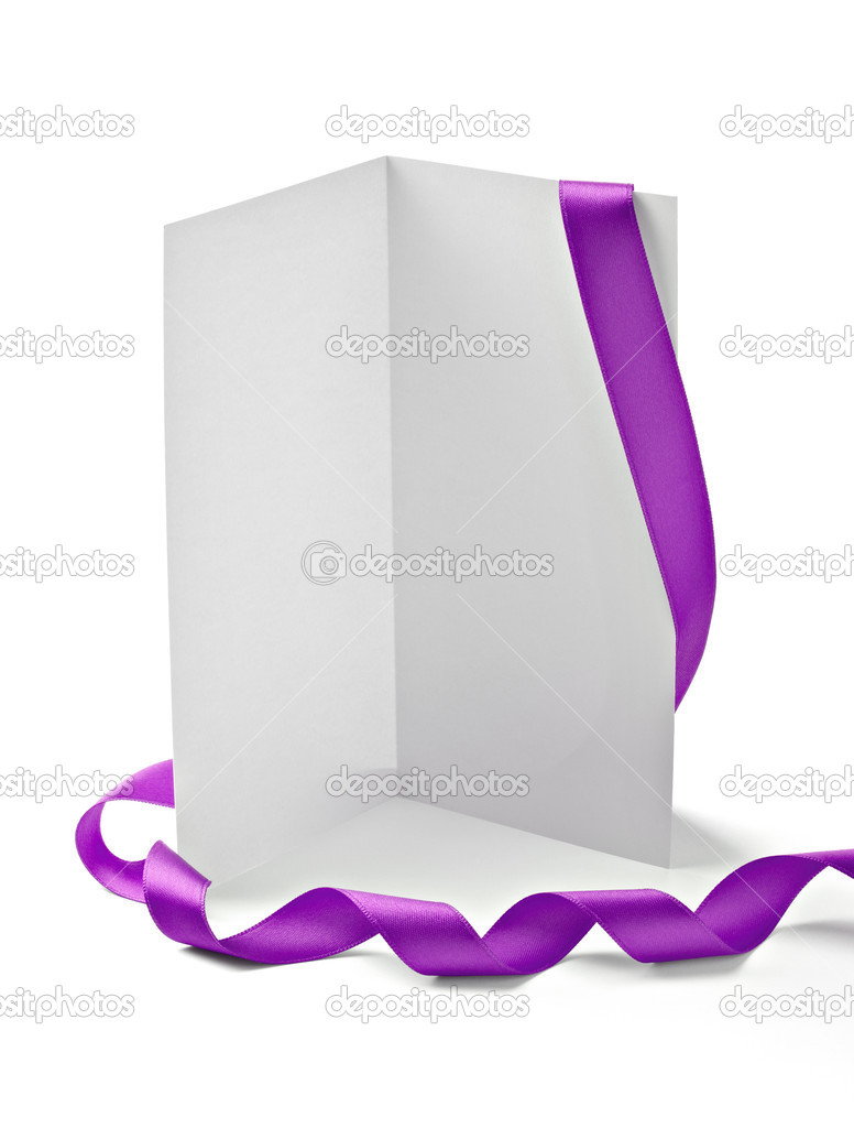 Greeting card with ribbon note christmas stock photo picsfive close up of card note with ribbon on white background with clipping path photo by picsfive kristyandbryce Choice Image