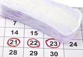 Fotografie Frau Hygiene Schutz Menstruation Zeitraum Gesundheit Gesundheit Kalenda