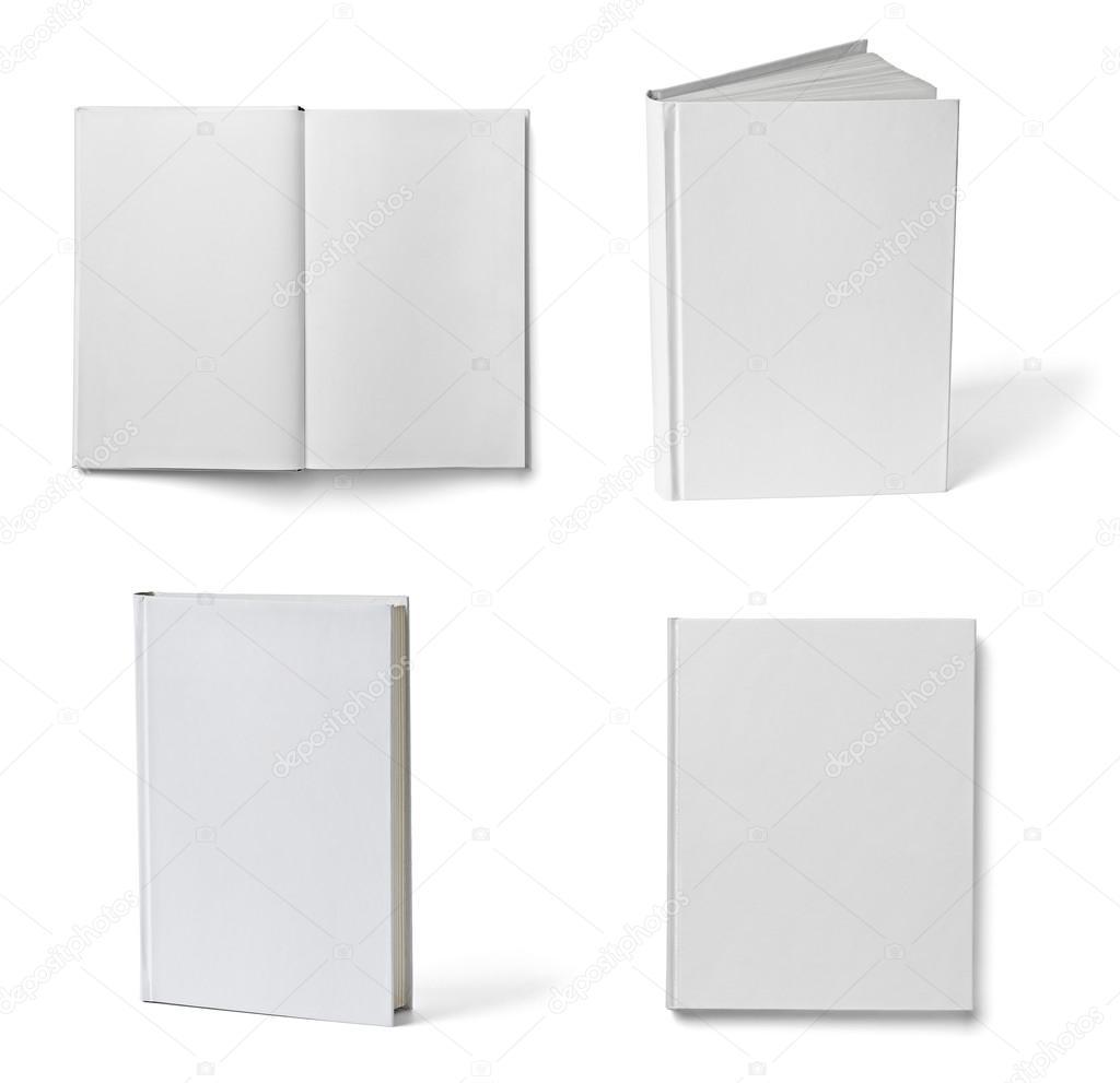 Folleto cuaderno libro blanco en blanco papel plantilla libro ...