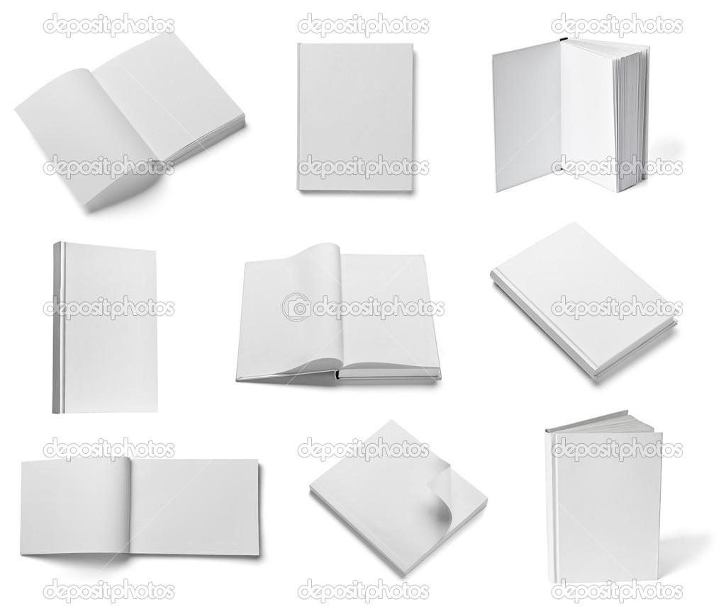 Buch Notebook Lehrbuch weiße Papier Vorlage — Stockfoto © PicsFive ...