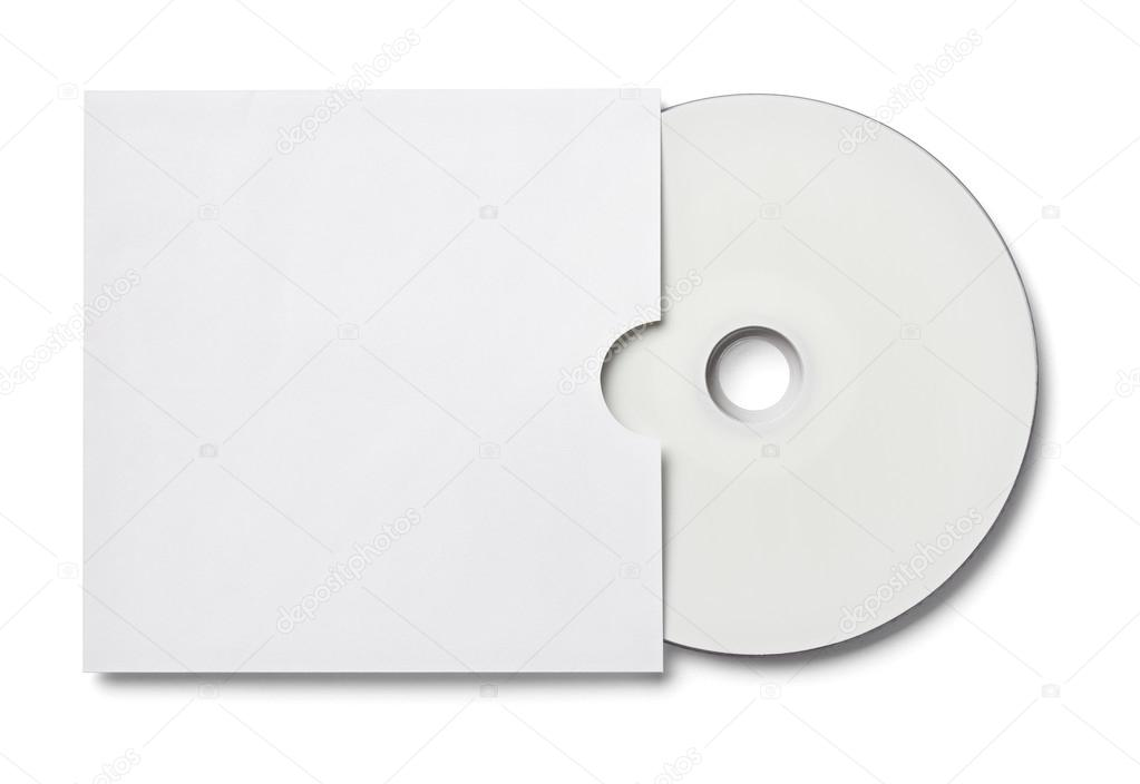 Dvd Disk Digital Computer Business Envelope Template  Stock Photo
