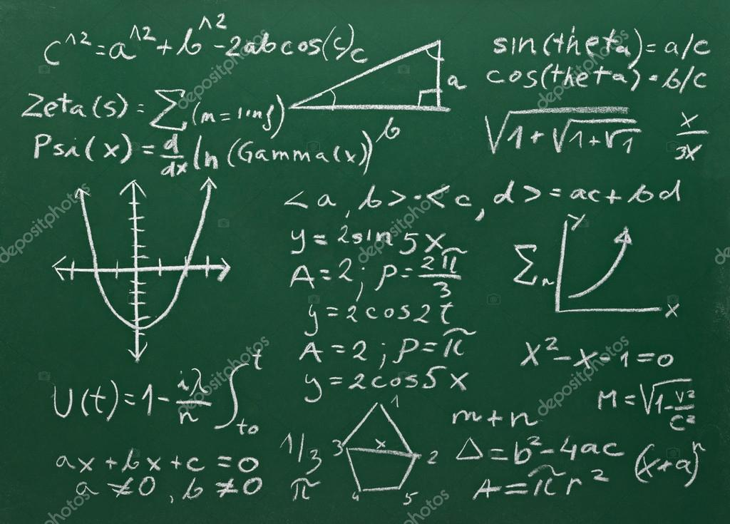 close up of math formulas on a blackboard stock photo picsfive