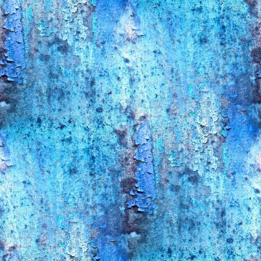 seamless blue abstract grunge texture with cracks in paint