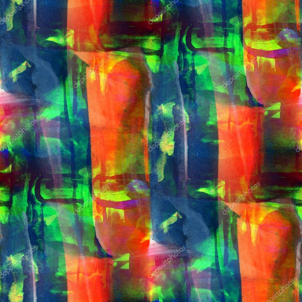 Seamless Texture De Bleu Vert Orange Papier Peint Aquarelle Backgrou