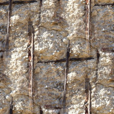 seamless texture of concrete reinforcement background wallpaper