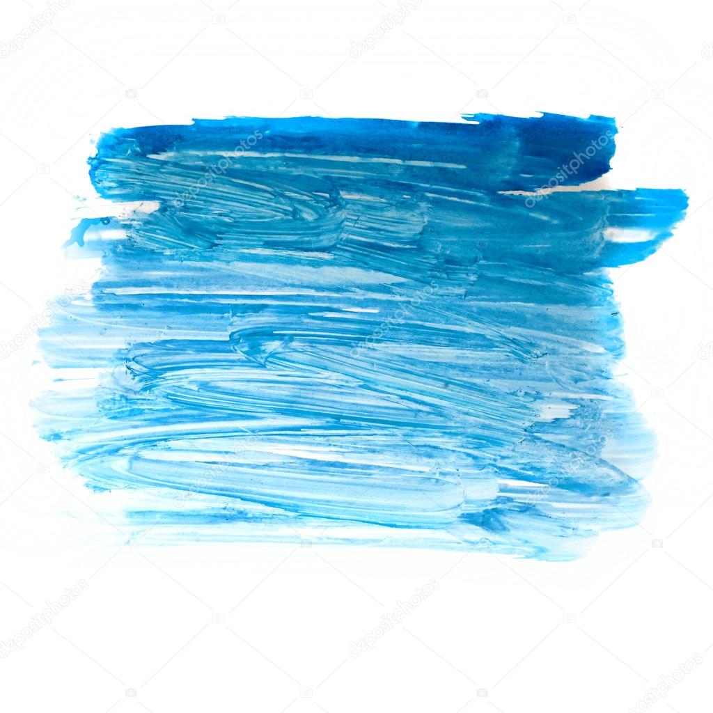 Stroke blue paint brush color water watercolor isolated on for Colores de pintura azul