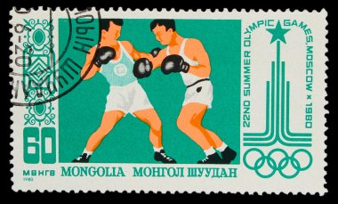 MONGOLIA - CIRCA 1980: A stamp printed in MONGOLIA, Olympic game
