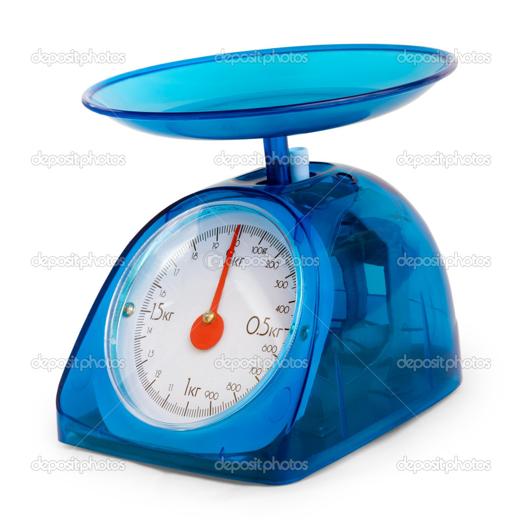 blue kitchen scales isolated — Stock Photo © maxximmm1 #16267785